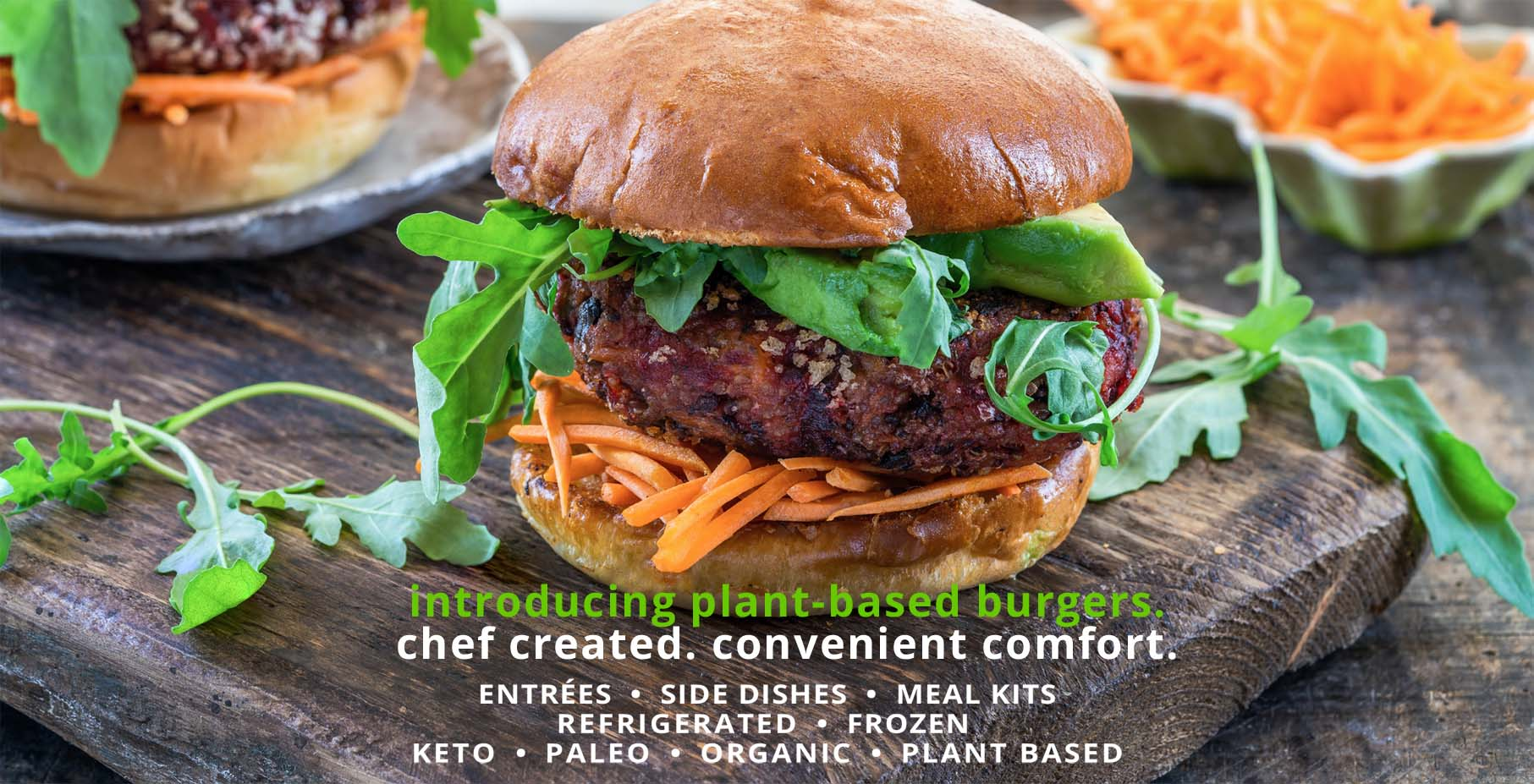 Culinevo premade entrees side dishes and meal kits including food for Paleo, Keto, Organic, Natural, Plant-Based, Vegetarian, and Vegan.  Chef created convenient meal kits, entrees, side dishes and desserts.