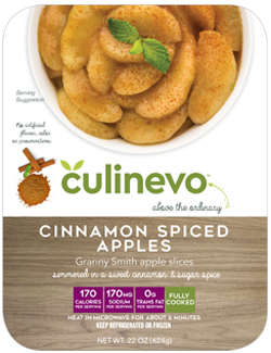 cinnamon spiced apples, culinevo