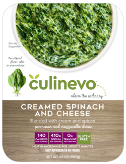 Creamed Spinach and Cheese, culinevo