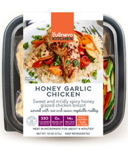 Honey Garlic Checken, fully cooked meal, culinevo