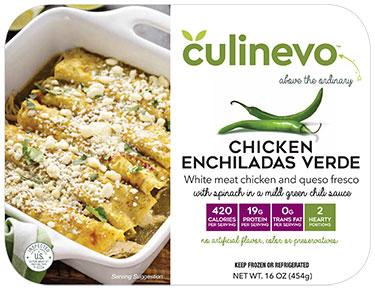 Chicken Enchiladas Verde, ready made meal, culinevo