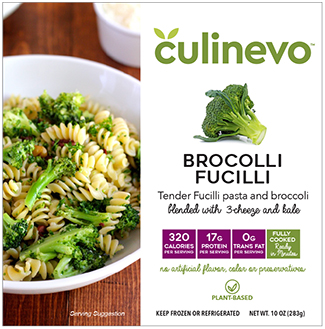 Brocolli Fucilli, ready made meals, culinevo