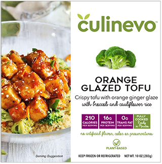 orange glazed tofu, ready made meals, culinevo