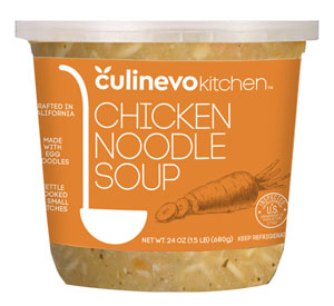 ready made chicken noodle soup, artisan crafted soups, culinevo kitchen