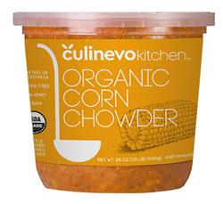 organic corn chowder, artisan crafted soups, culinevo kitchen