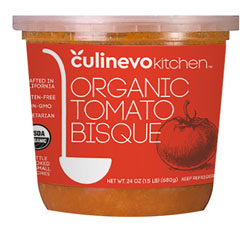ready made organic tomato bisque, culinevo kitchen